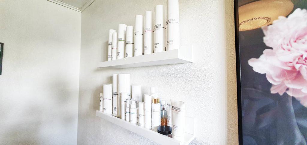 Kauneushoitola Laineella ihonhoitotuotteita